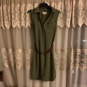Michael Kors midi belted dress , size 2 .